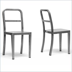 Echo Dining Chair in Gunmetal (Set of 2)