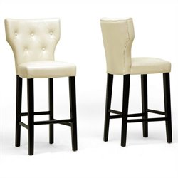 Baxton Studio Billings Bar Stool in Beige (Set of 2)
