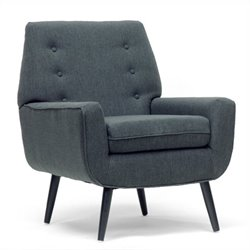 Baxton Studio Levison Accent Chair in Gray