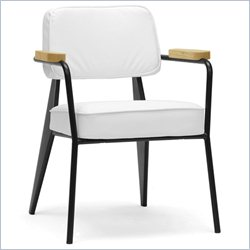 Baxton Studio Lassiter Accent Chair in White and Black