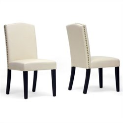 Trullinger Dining Chair in Beige (Set of 2)