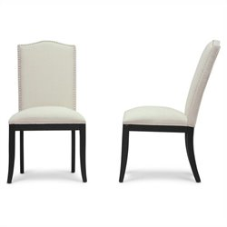 Baxton Studio Tyndall Dining Chair in Beige (Set of 2)