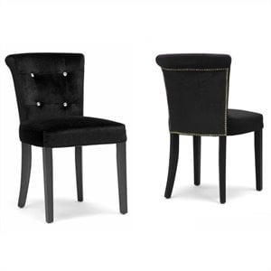 Larouche Dining Chair in Black (Set of 2)