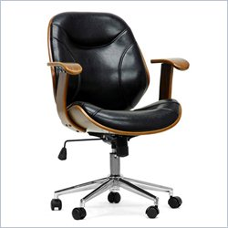 Baxton Studio Rathburn Office Chair in Walnut and Black