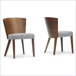 Baxton Studio Sparrow Dining Chair in Brown (Set of 2)