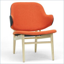 Baxton Studio Kehoe Accent Chair in Gray and Orange