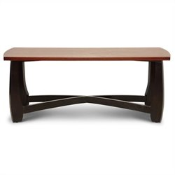 Baxton Studio Straitwoode Coffee Table in Dark Brown and Cherry