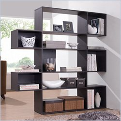 Baxton Studio Lanahan 5-level Display Shelf in Dark Brown