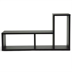 Baxton Studio Tillman Display Shelf in Dark Brown