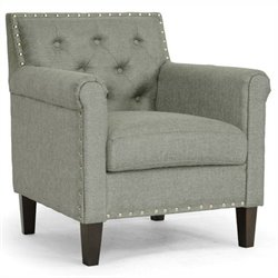 Baxton Studio Thalassa Arm Chair in Gray