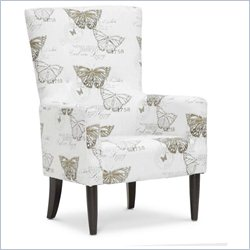 Baxton Studio Linneaus Accent Chair in Beige