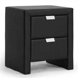 Baxton Studio Frey Nightstand in Black