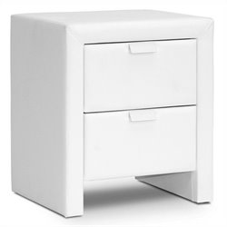 Baxton Studio Frey Nightstand in White