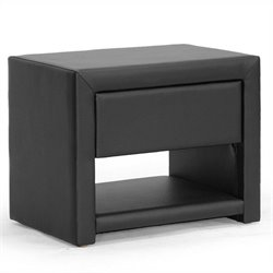 Baxton Studio Massey Nightstand in Black