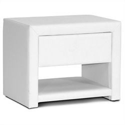 Baxton Studio Massey Nightstand in White