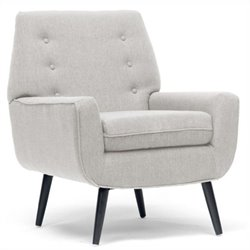 Baxton Studio Levison Accent Chair in Beige