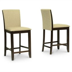 Baxton Studio Everdon Pub Chair in Brown (Set of 2)