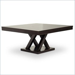 Baxton Studio Everdon Coffee Table in Cappuccino
