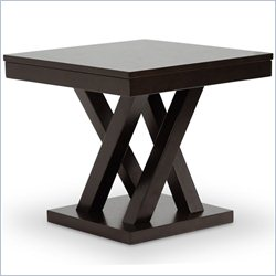 Baxton Studio Everdon End Table in Cappuccino