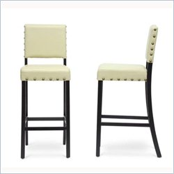 Baxton Studio Walter Bar Stool in Cream (Set of 2)