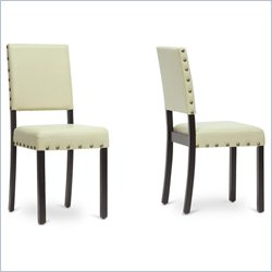 Baxton Studio Walter Dining Chair in Cream (Set of 2)