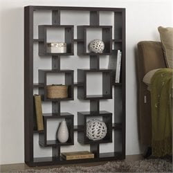 Baxton Studio Eyer Display Shelf in Espresso