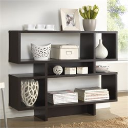 Baxton Studio Cassidy 4-level Bookshelf in Espresso