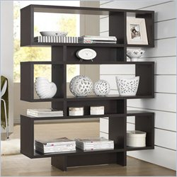 Baxton Studio Cassidy 6-level Bookshelf in Espresso