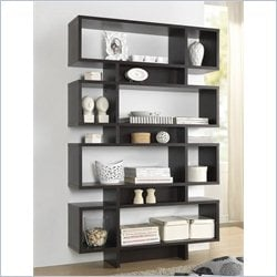 Baxton Studio Cassidy 8-level Bookshelf in Espresso