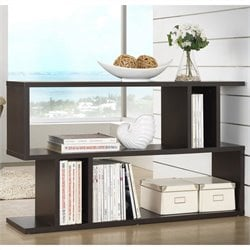 Baxton Studio Goodwin 2-level Bookshelf in Espresso