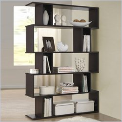 Baxton Studio Goodwin 5-level Bookshelf in Espresso