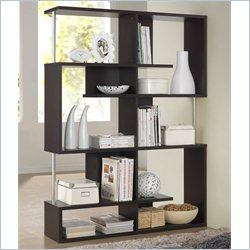 Baxton Studio Kessler Tall Bookshelf in Espresso