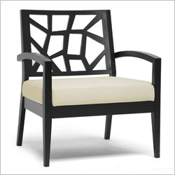 Baxton Studio Jennifer Lounge Chair in Dark Brown and Cream