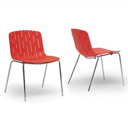 Florissa Dining Chair in Red (Set of 2)