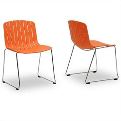 Ximena Dining Chair in Orange (Set of 2)