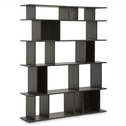 Baxton Studio Tilson Bookshelf in Dark Brown
