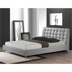 Baxton Studio Zeller Queen Bed in Gray