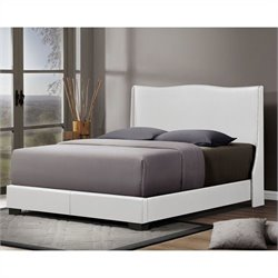 Baxton Studio Duncombe Queen Bed in White