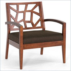 Baxton Studio Jennifer Lounge Chair in Dark Brown