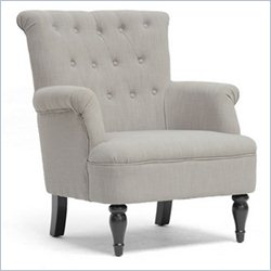 Baxton Studio Crenshaw Club Chair in Light Gray