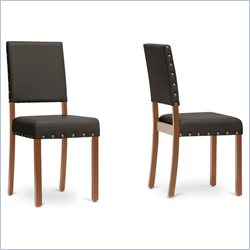 Baxton Studio Walter Dining Chair in Dark Brown (Set of 2)