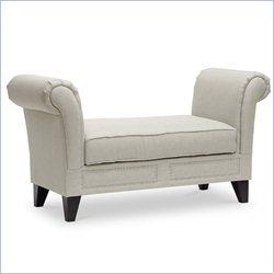 Baxton Studio Marsha Bench in Light Beige