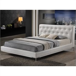 Baxton Studio Panchal King Platform Bed in White