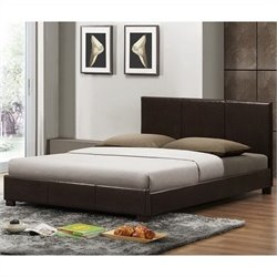 Baxton Studio Pless Platform Bed in Dark Brown - Full