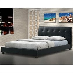 Baxton Studio Hauten Platform Bed in Black - Full