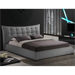 Baxton Studio Marguerite Platform Bed in grey - King