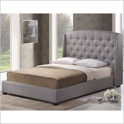 Baxton Studio Ipswich Platform Bed in grey - Queen