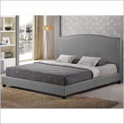 Baxton Studio Aisling Platform Bed in grey - King