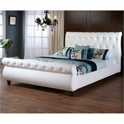 Baxton Studio Ashenhurst Sleigh Bed in White