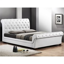 Leighlin Sleigh Bed in White